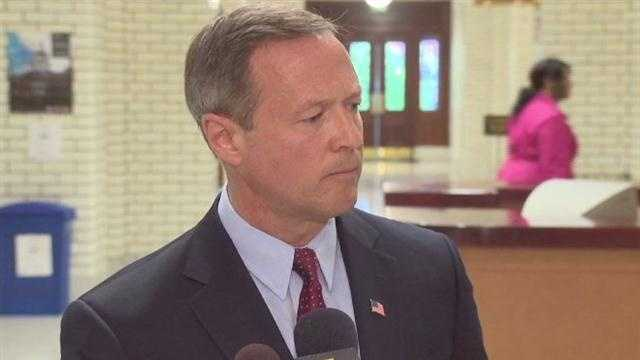 Maryland Gov. Martin O'Malley defends his prison system chief, calling the federal indictment of dozens of inmates and correctional officers a positive achievement in fighting gangs.