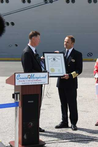 "Originally deployed in Baltimore from 2004 to 2009, Grandeur of the Seas was welcomed back to Maryland with a special proclamation from the governor that declares May 3 ""Royal Caribbean Cruise Day"" in Maryland."