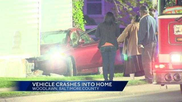 Woodlawn car into home
