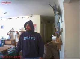The Harford County Sheriff's Office releases surveillance photos of a man accused of breaking into a house two times.