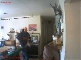 Investigators said the man broke into a house in the 4000 block of Wilkinson Road on April 17 and April 20.