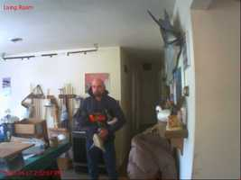 The homeowner has in-house security camera that caught the man in photos several times, investigators said.