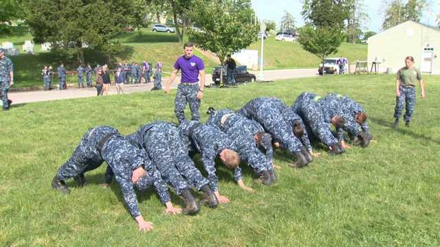 The Naval Academy freshman class endures 14 continuous hours of rigorous physical and mental challenges during the academy's annual Sea Trials training exercise May 15 as part of the culmination of their freshman year.