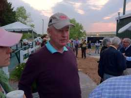 Orb's owner, Stuart Janney, at the Stakes Barn as his Preakness favorite gets ready to head to the track Thursday morning. Janney is a Baltimore County resident but runs an investment firm in NYC.