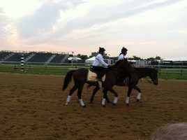 Preakness favorite Orb takes to the track Thursday morning for a practice jaunt.
