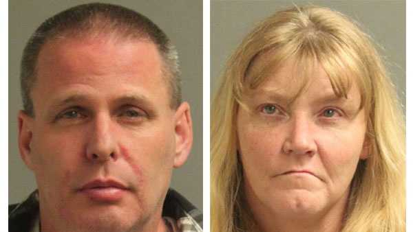 Police say Stephen Rodey, 44, and Dawn Samuel, 39, were arrested and face drug-related charges.