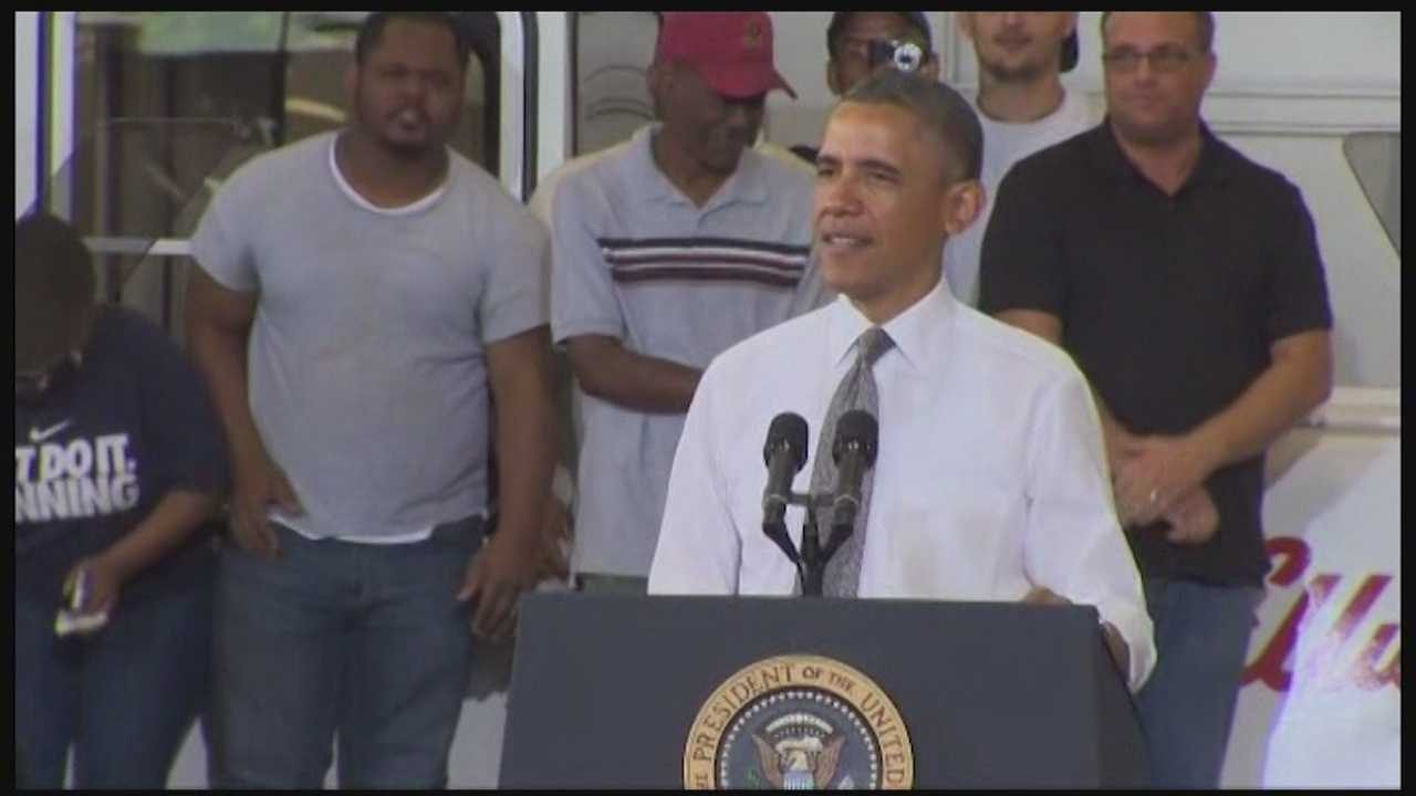 President Barack Obama tours Baltimore