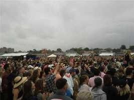 The crowd watching Pitbull