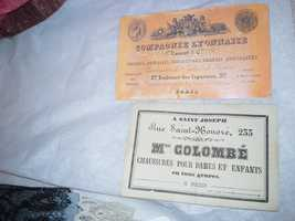 These are business cards from Elizabeth Patterson Bonaparte's exhibit.