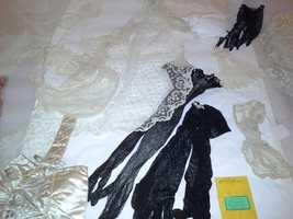 Laces and ribbons from the period are also part of the display.