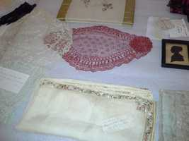On display are some of Elizabeth Patterson Bonaparte's knickknacks.