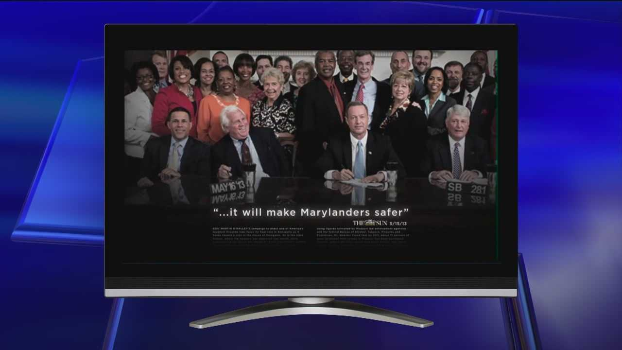 Gun control activists fire the first salvo in the battle over gun rights and public safety by airing a new TV commercial in Baltimore on Monday that praises the measures signed by the governor last week.