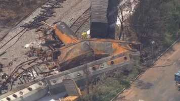 A look at the wreckage the day after from SkyTeam 11