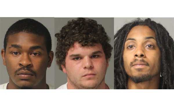 Police say Detrick Parker (left), Christopher Donald Ford (right), and Kenny Truxton (right) were arrested and face drug charges.
