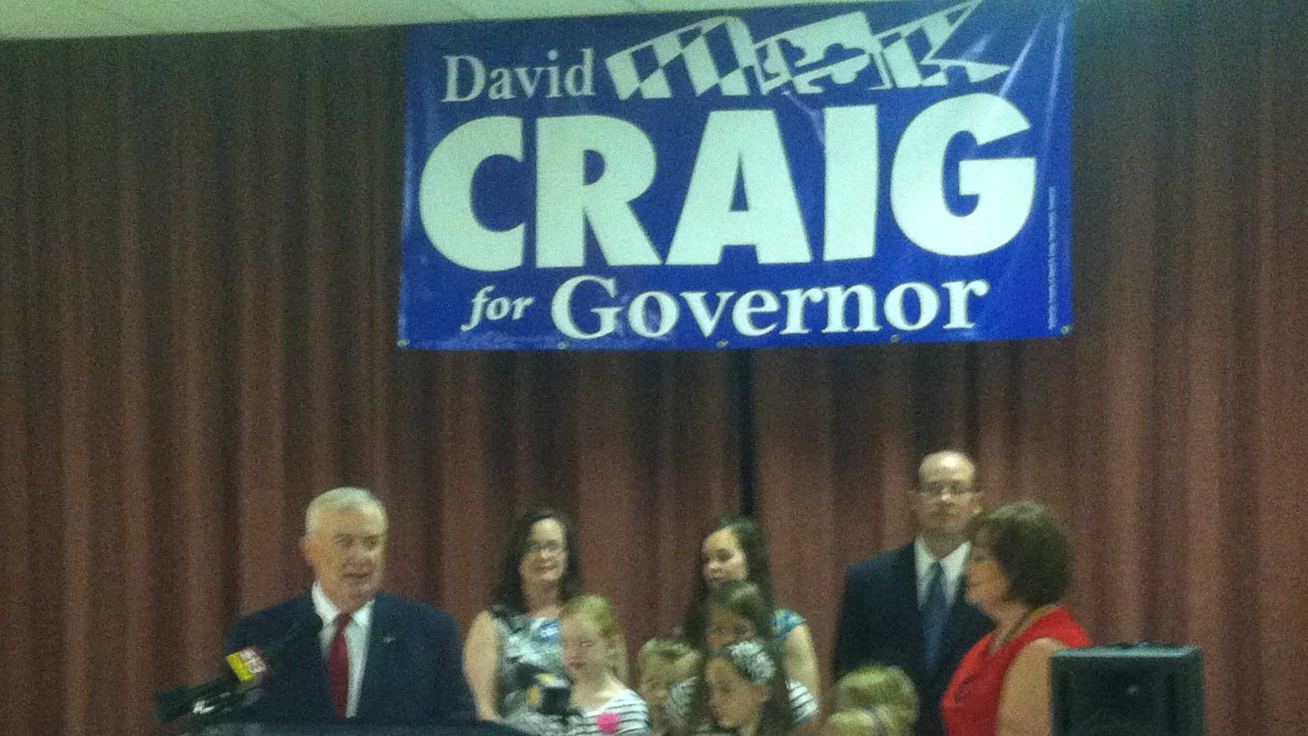 Harford County Executive David Craig announces his candidates for governor.