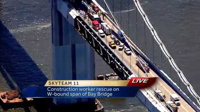 Bay Bridge injury scene