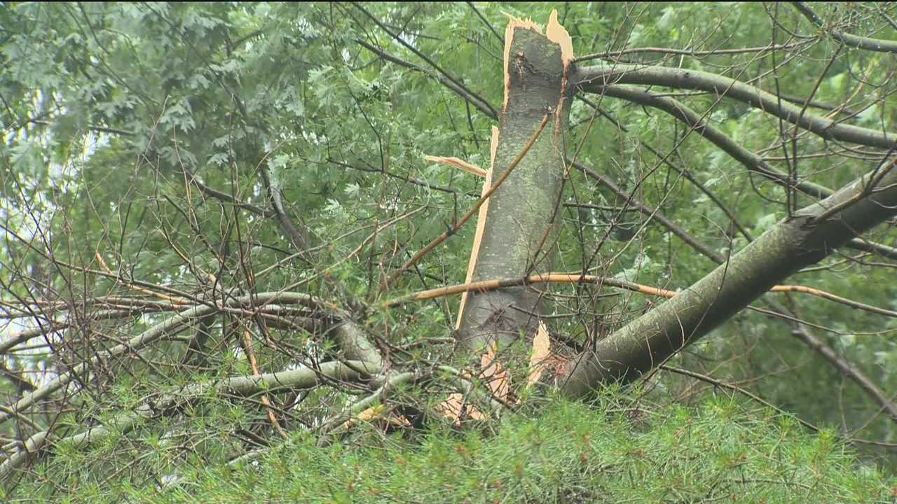 The weather service warned of another round of severe weather on Thursday after storms rolled through in the morning, more are expected to hit again in the late afternoon and evening.