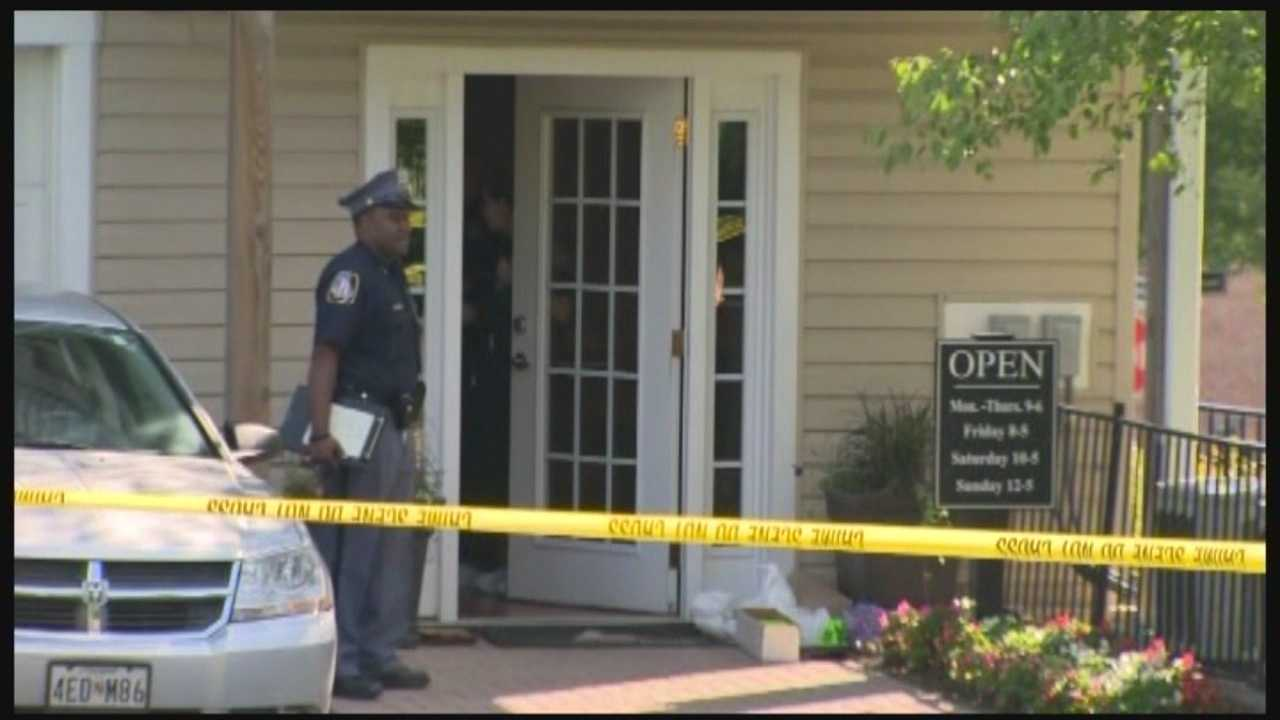 Baltimore County police are investigating the death of a woman found in a rental office in Reisterstown.