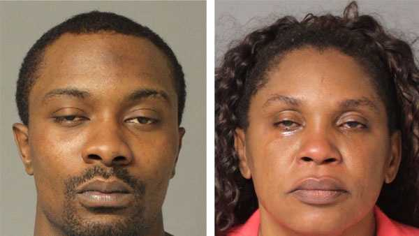 Police say Lionel Eades (left) and Shirley Bromfield (right) were arrested in connection with a burglary.
