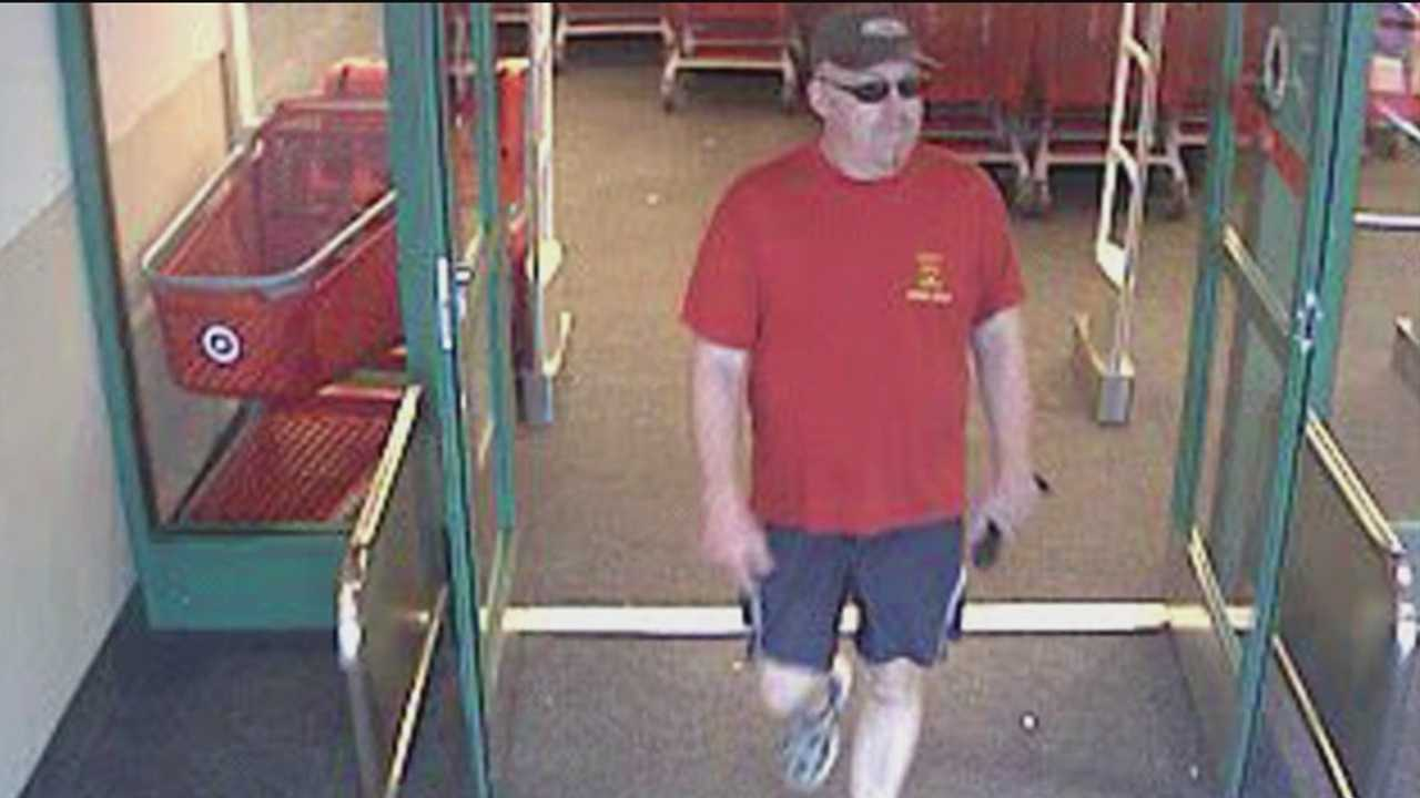 Police are looking for a man who allegedly exposed himself to two women in dressing rooms at a Columbia Target and then, walked out of the store.