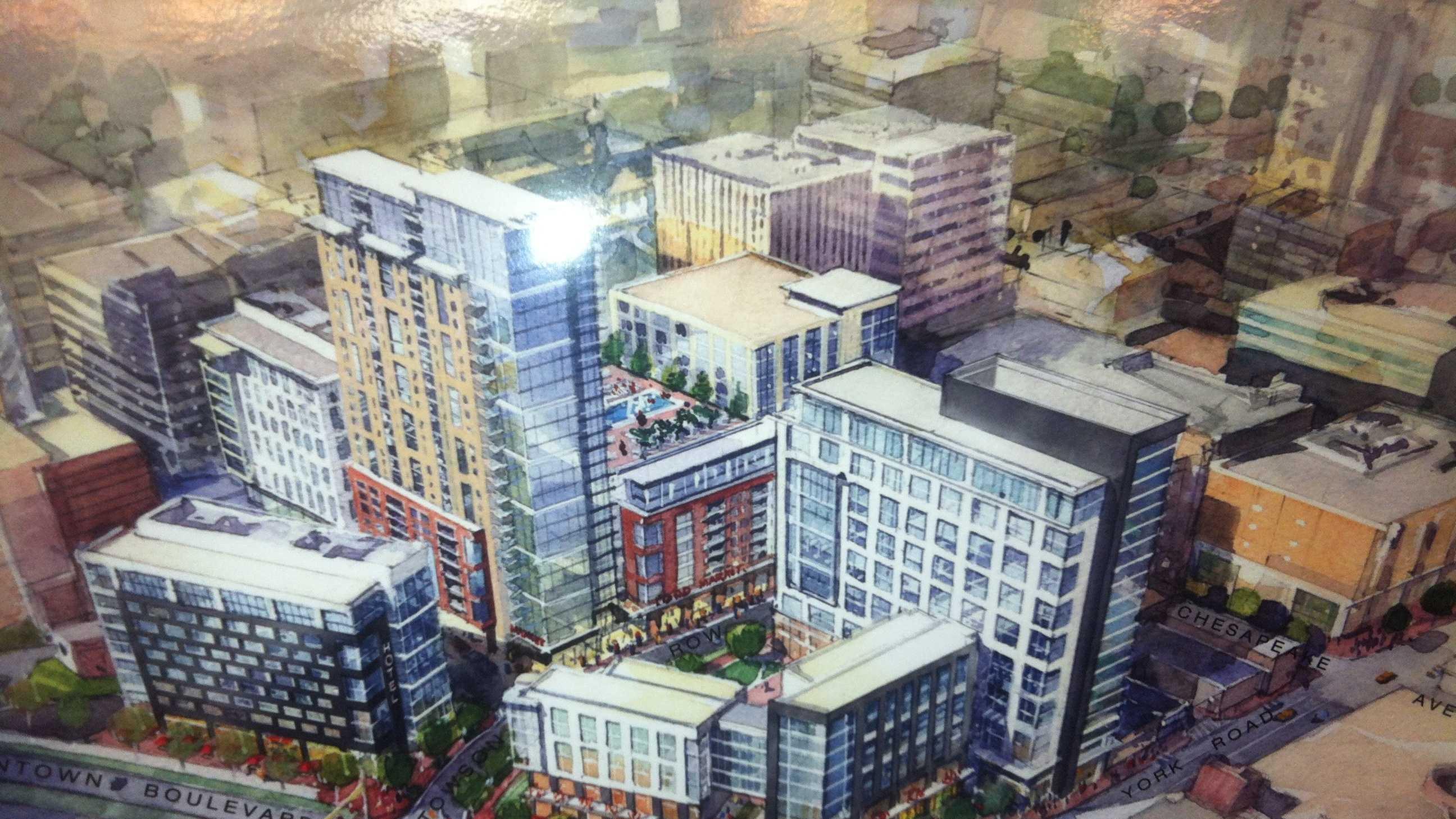 Towson Row development rendering