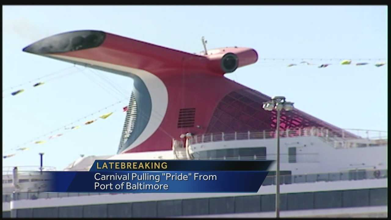 Carnival Cruise Lines is leaving Baltimore next year.