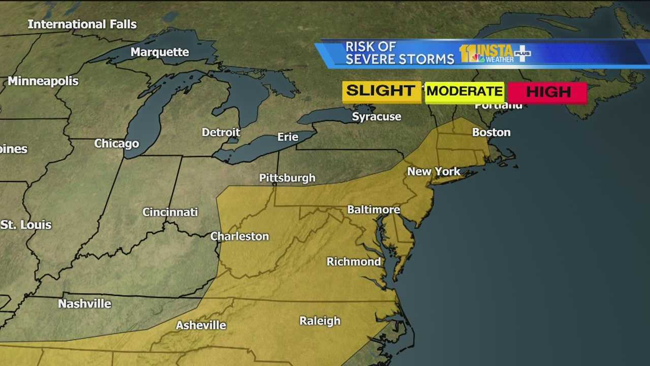 Weather could get severe again this afternoony