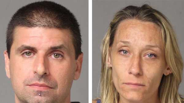 Police say Paul Anthony Wilson and Kelly Lynn Stevens were arrested in connection with theft.