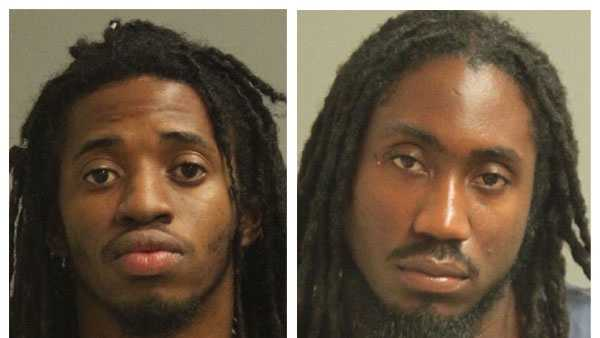 Police said Tyrone Eugene Johnson, 22 (left), and William Ashley Johnson, 26 (right), were arrested and face drug charges.