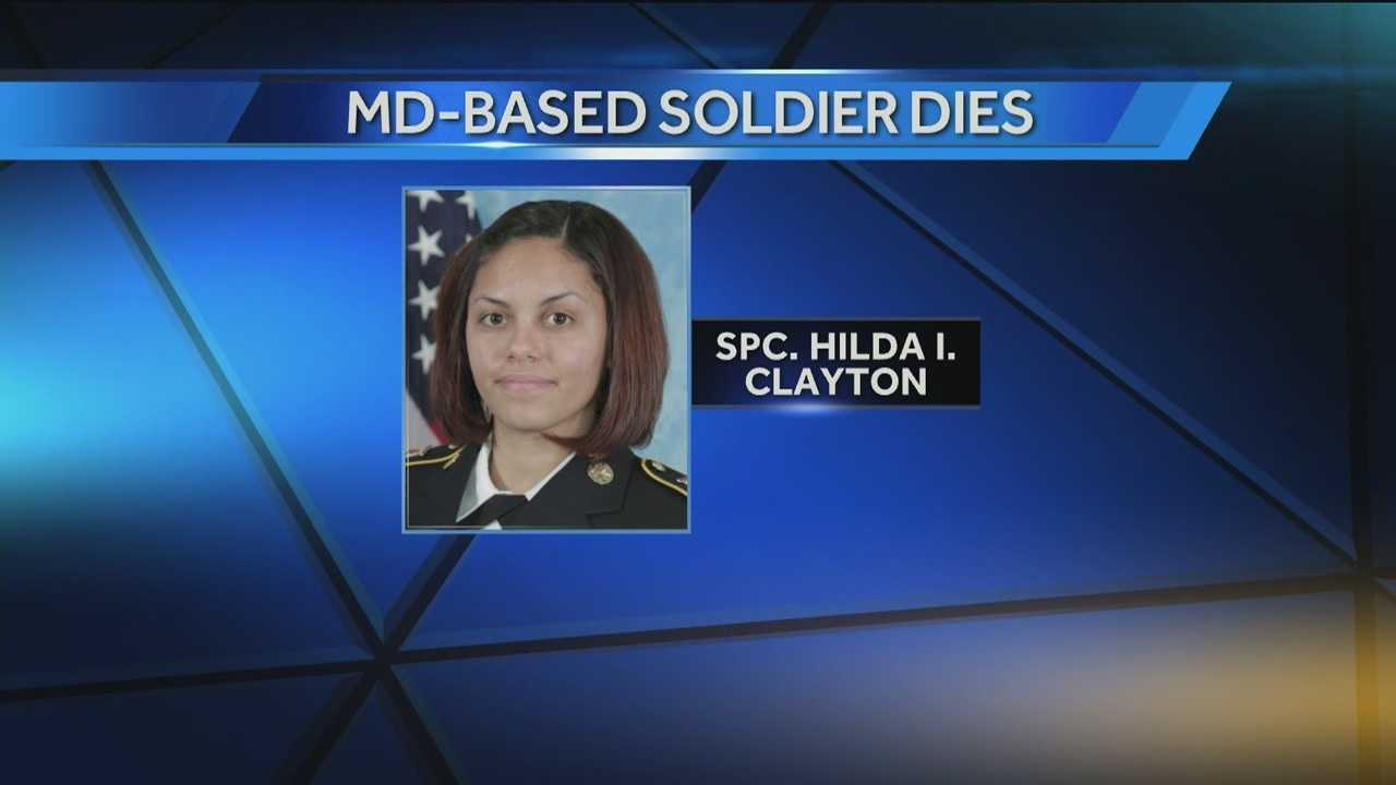 Specialist Hilda Clayton, 22, of Georgia, died Tuesday while serving in Jalalabad, Afghanistan.