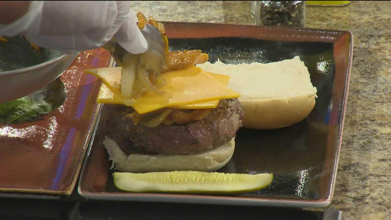 Sunday Brunch Black and Orange burger