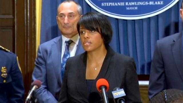 Mayor Stephanie Rawlings-Blake address recent violence in the city.