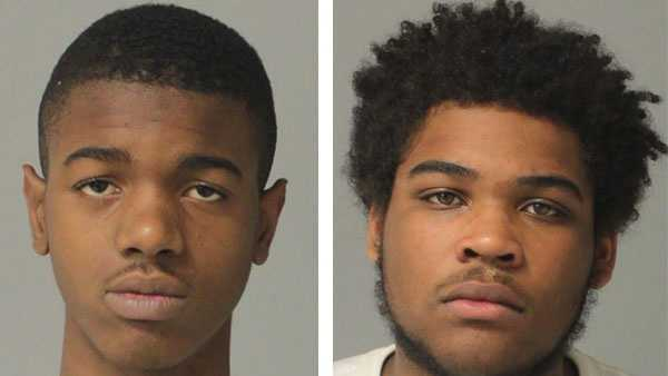 Police say 17-year-olds Jaron Uzzle (left) and Raynold Smith (right) were arrested and charged in connection with a Pasadena home invasion robbery.