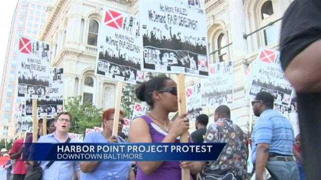Harbor Point project protest