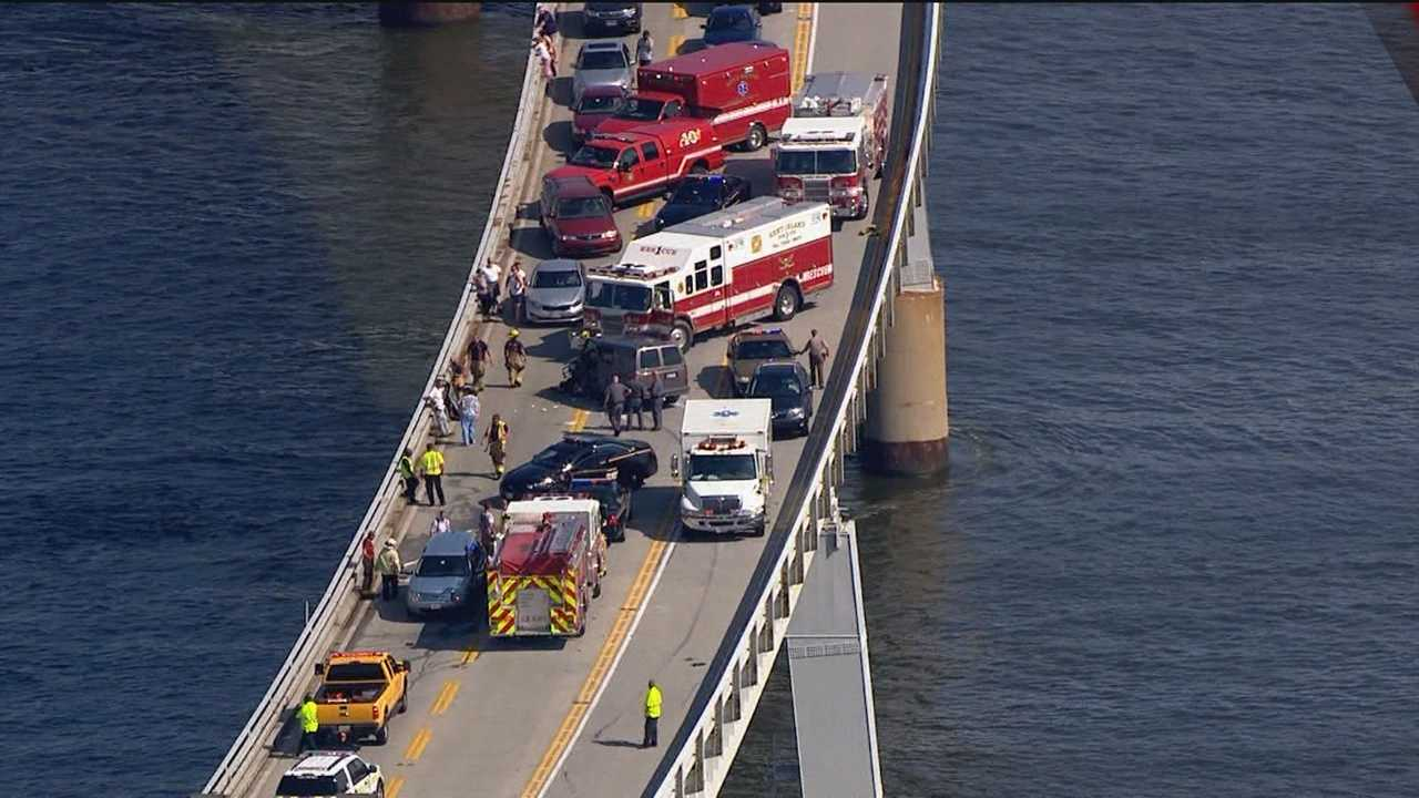 Bay Bridge head-on crash wide