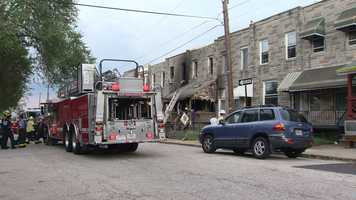 Two firefighters are recovering from injuries they suffered while battling a house fire in south Baltimore on Sunday.