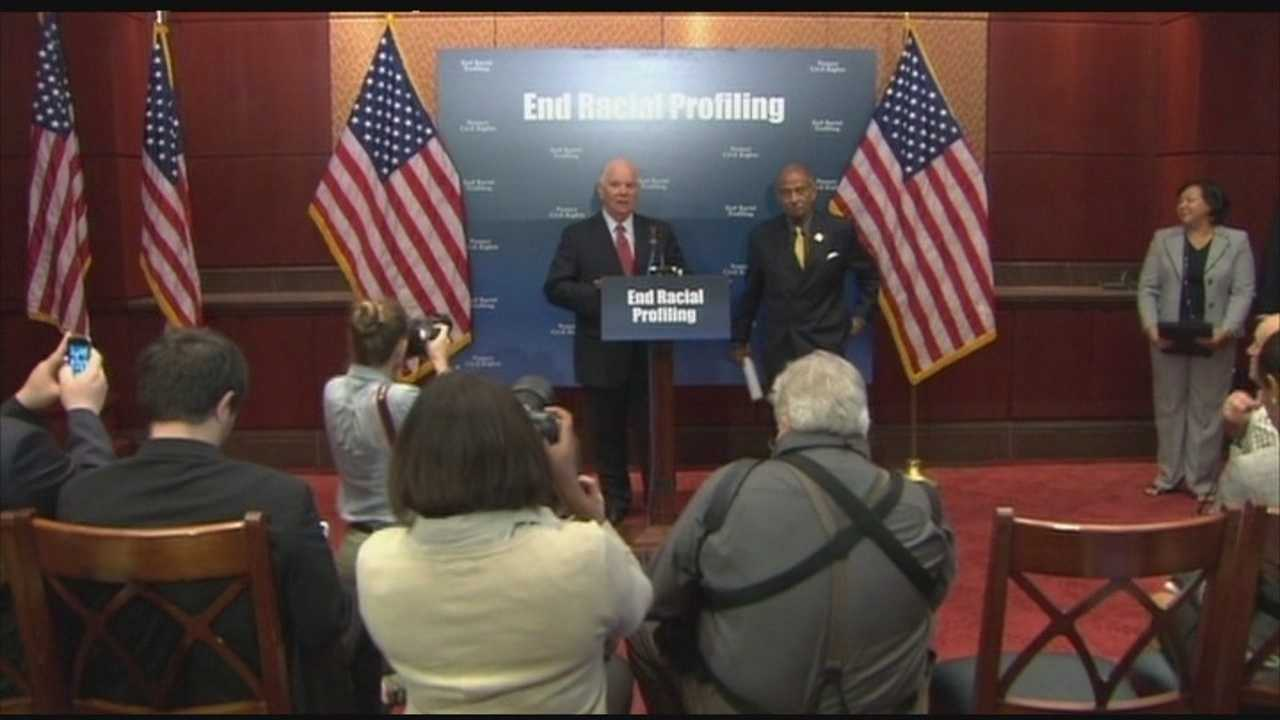 U.S. Sen. Ben Cardin, D-Maryland, at a news conference.