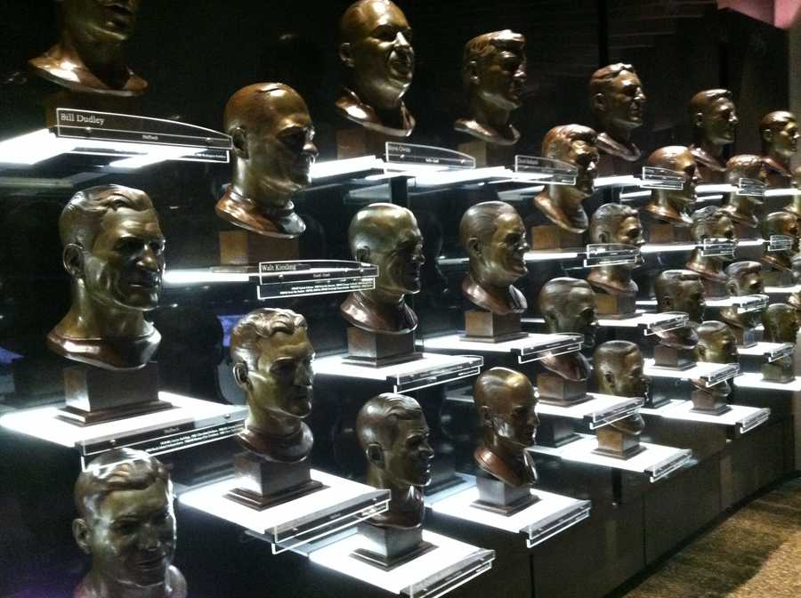 The Pro Football Hall of Fame's Hall of Busts, where Jonathan Ogden's bust will soon be on display.