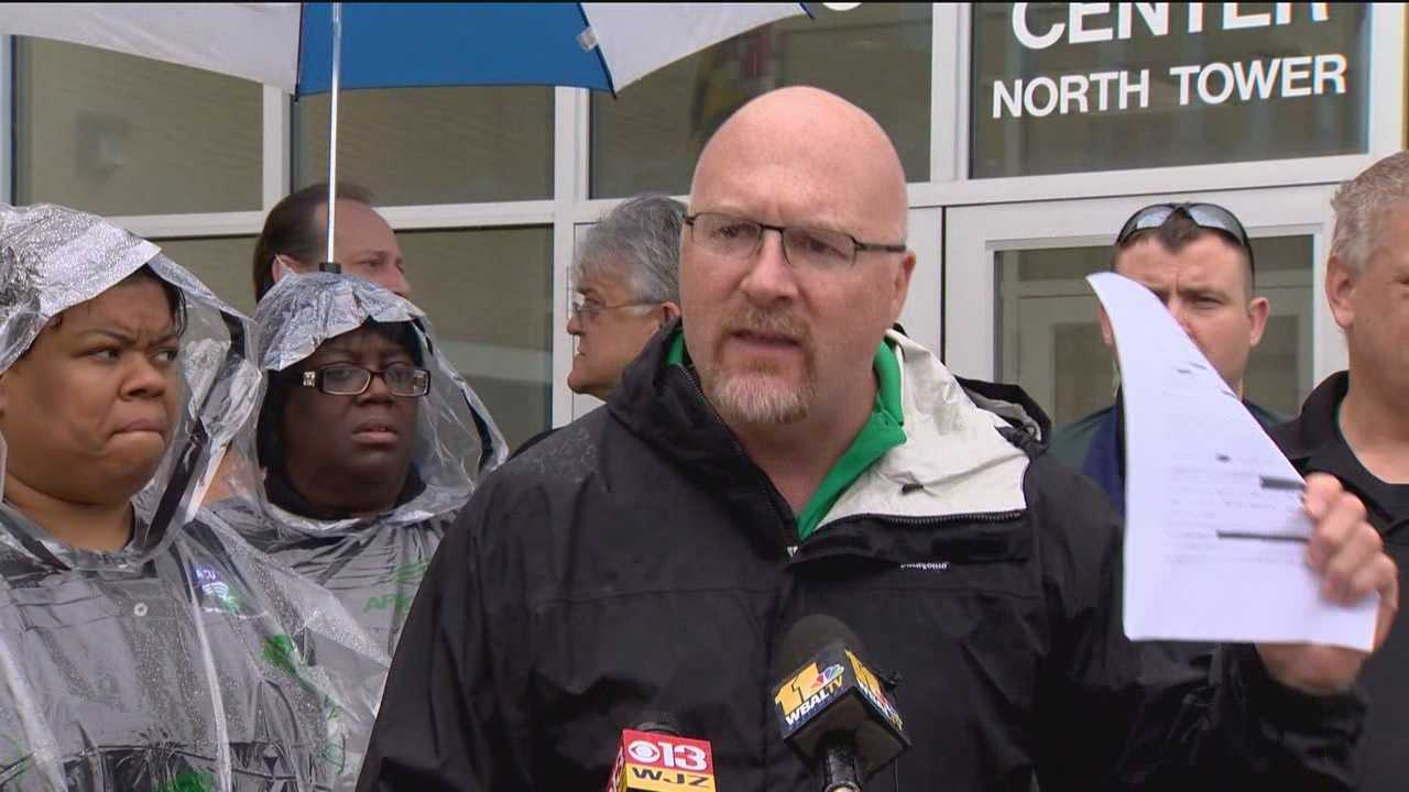 AFSCME Maryland is calling for the resignation of what it calls three high level directors within the state prison system after a corrections officer was nearly stabbed to death by an inmate.