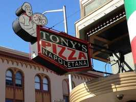 """7. San Francisco, Calif. -- The bridge is not all that is golden in the """"City by the Bay."""" With over 200 pizzerias, each serving heavenly slices adorned with bubbling cheese, savory vine-ripened tomato sauce, and golden crust, travelers are sure to experience """"la bella vita."""""""