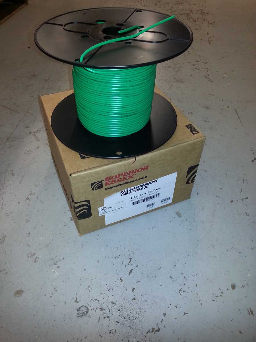 10-gauge green ground wire