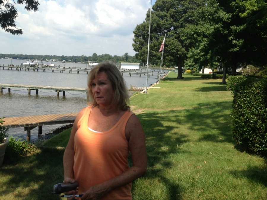Barbara Harbin, Randy's wife, who witnessed the boat crash.