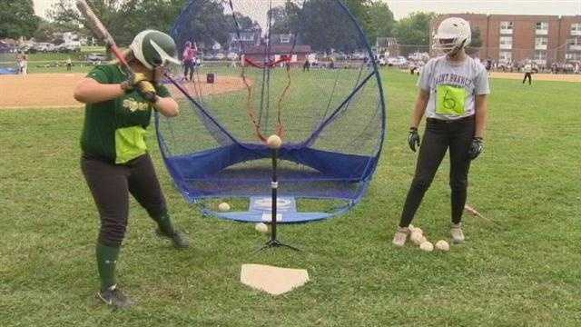 High school softball players from all over the East Coast were in Baltimore County Friday for a unique opportunity.
