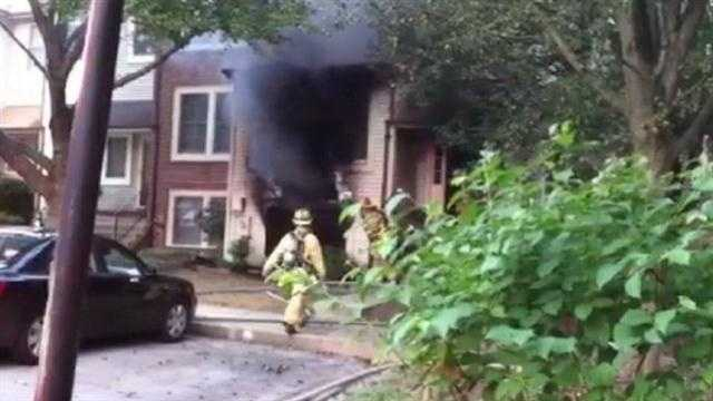Columbia Swan Point fire