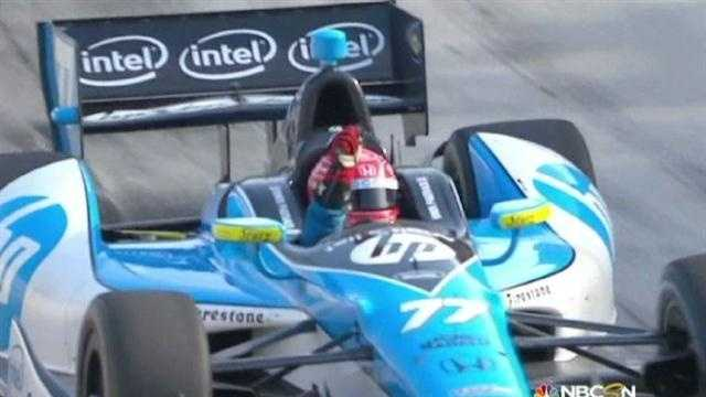 Simon Pagenaud wins the 2013 Grand Prix of Baltimore.