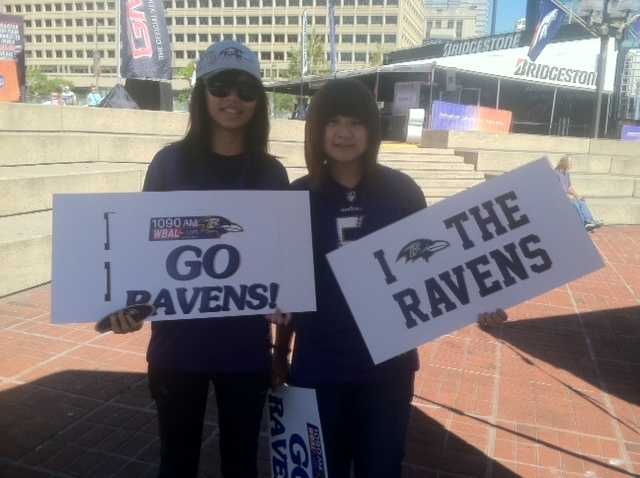 On Wednesday, crews were setting up stages and areas for fans to mingle and get Ravens gear.