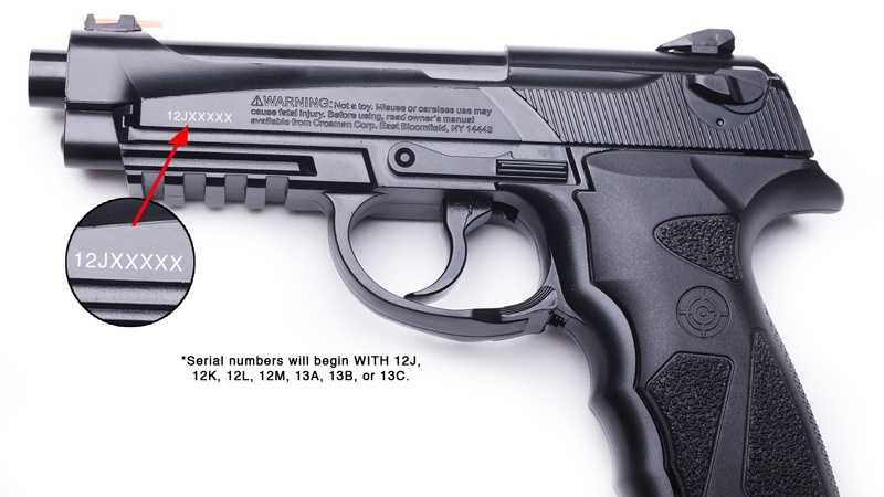 Crossman air pistol recall 02
