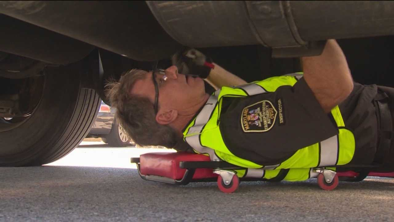 Police in Anne Arundel County teamed up Tuesday to conduct joint commercial vehicle safety inspections to keep unsafe vehicles of the Chesapeake Bay Bridge and Maryland highways.