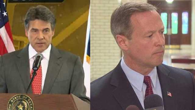 Texas Gov. Rick Perry, Maryland Gov. Martin O'Malley