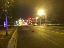 Baltimore City police shut down a major thoroughfare in the northern part of the city after they say a crash ended with three people dead and one critically injured.